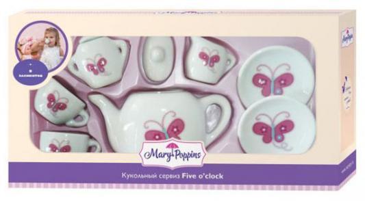 "Набор посуды Mary Poppins ""Бабочка"" фарфоровая 9 предметов набор посуды mary poppins бабочка 13 предметов фарфоровая 453014"