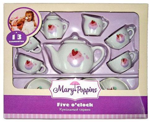 Набор посуды Mary Poppins Пирожные фарфоровая 13 предметов