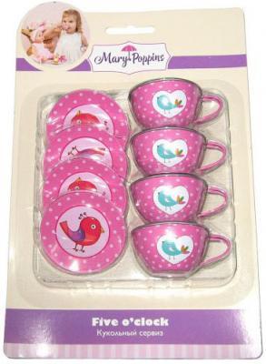 """Набор посуды Mary Poppins """"Птички"""" металлическая 8 предметов"""