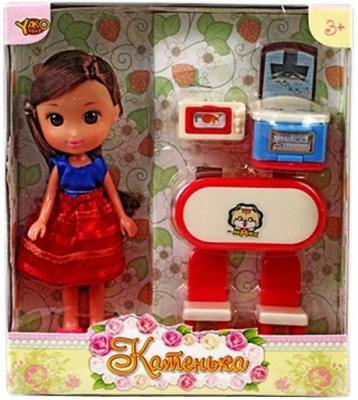 """Кукла Shantou Gepai Катенька c набором мебели """"Гостиная"""" 16.5 см M6610"""