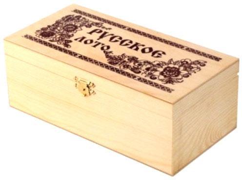Настольная игра Шахматы лото Лото в деревянном сундучке в ассортименте от 123.ru