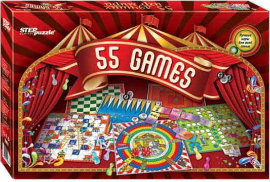 Настольная игра Step Puzzle набор игр 55 лучших игр мира