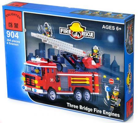 Конструктор BRICK Пожарная команда 368 элементов машинки siku пожарная машина с лестницей