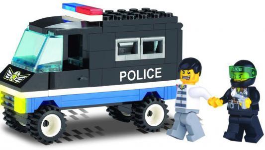 Конструктор BRICK Полицейская машина 126 87 элементов машины chicco полицейская машина