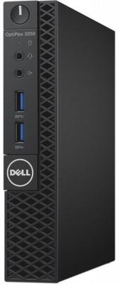 Компьютер DELL Optiplex 3050 Micro Intel Pentium-G4400T 4Gb 500Gb Intel HD Graphics 510 Linux черный 3050-0498 ноутбук dell vostro 3558 15 6 1366x768 intel pentium 3825u 500 gb 4gb intel hd graphics черный linux 3558 4483