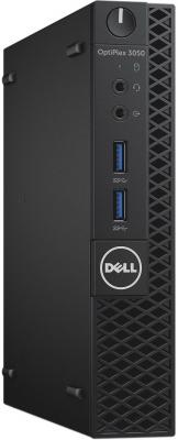 Неттоп DELL Optiplex 3050 Micro Intel Pentium-G4560T 4Gb 500Gb Intel HD Graphics 610 Windows 10 Professional черный 3050-0443 компьютер dell optiplex 3050 mt 3050 0337 i3 6100 3 7 4gb 500gb intel hd 530 dvd rw linux