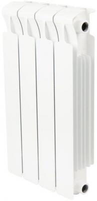 Биметаллический радиатор Rifar Monolit 500 4 секции 784Вт биметаллический радиатор rifar рифар b 500 нп 10 сек лев кол во секций 10 мощность вт 2040 подключение левое