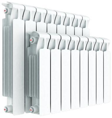 Биметаллический радиатор Rifar Monolit Ventil 350 10 секций 1340Вт подключение левое  алюминиевый радиатор rifar alum ventil avr 500 14