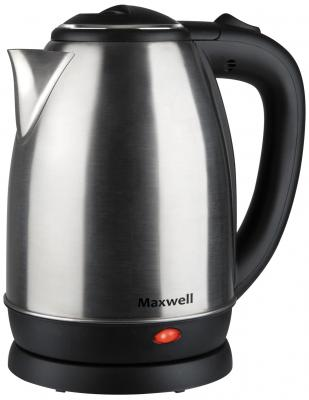 Чайник Maxwell MW-1081 ST 1850 Вт чёрный 1.8 л металл шашлычницы maxwell шашлычница maxwell mw 1990 st