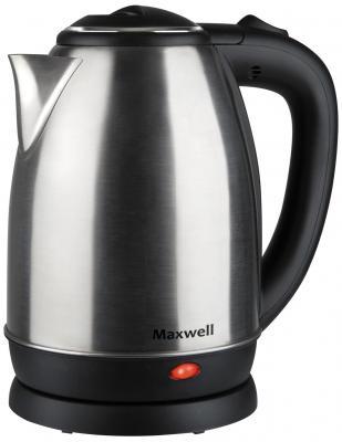 Чайник Maxwell MW-1081 ST 1850 Вт чёрный 1.8 л металл шашлычница maxwell mw 1990 st