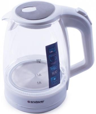 Чайник ENDEVER KR-325G 2200 Вт белый 1.8 л пластик/стекло пылесосы endever пылесос