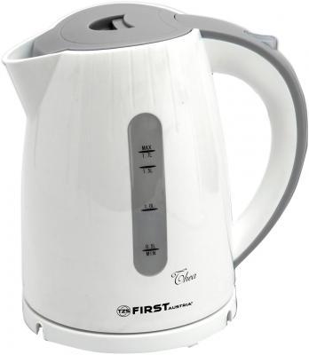 Чайник First FA-5427-3 2200 Вт белый серый 1.7 л пластик чайник first 5421 2 2200 вт 2 л пластик белый