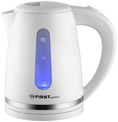 Чайник First 5427-4 2200 Вт белый 1.7 л пластик чайник first 5421 2 2200 вт 2 л пластик белый
