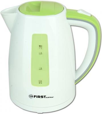 Чайник First FA-5427-7 2200 Вт белый зелёный 1.7 л пластик