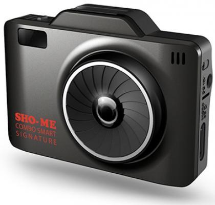 Видеорегистратор Sho-Me Combo Smart Signature 2.31 1920x1080 135° G-сенсор microSD microSDHC с радар-детектором видеорегистратор supra scr 12 2 7 1920x1080 140° g сенсор usb microsd microsdhc