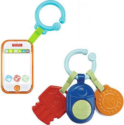 Развивающая игрушка Fisher Price Музыкальный телефон / прорезыватель «ключики» DPK28 в ассортименте