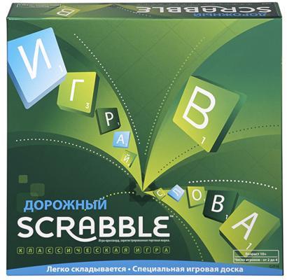 Настольная игра MATTEL развивающая Дорожный Scrabble CJT18