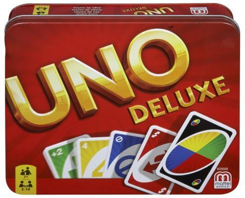 Настольная игра MATTEL карточная Uno Deluxe uno настольные игры карточная игра uno друзья семья картон мальчики подарок