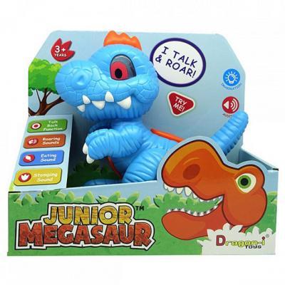 Интерактивная игрушка Dragon-i Junior Megasaur 16919 от 3 лет голубой