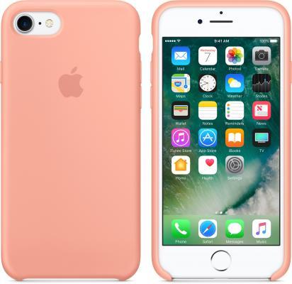 все цены на  Накладка Apple MQ592ZM/A для iPhone 7 розовый  онлайн
