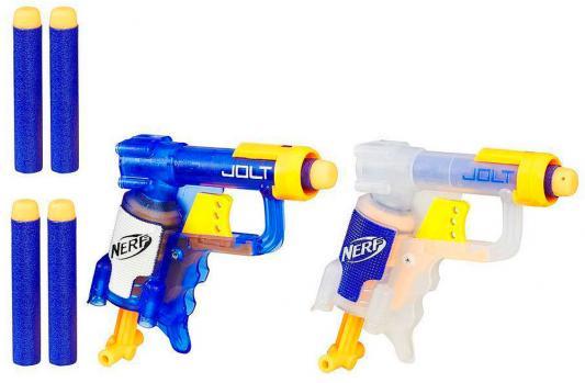 Бластер Hasbro НЁРФ - Джолт Элит цвет в ассортименте игрушечное оружие nerf hasbro n rebelle мини бластеры сладкая парочка 2 шт