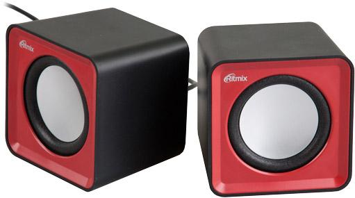 Колонки Ritmix SP-2020 2x2 Вт USB черно-красный колонки ritmix колонки ritmix sp 140b black red