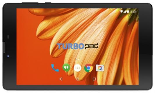 """Планшетный компьютер """"TurboPad 724"""" чёрный 3G {7""""1024x600,8Гб,microSDHC,Wi-Fi,Bluetooth,3G,0,3 Мпикс+2,0 Мпикс,Android 6.0}"""