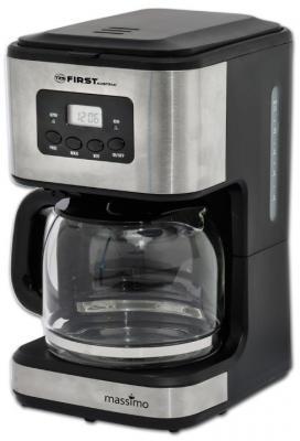 Кофеварка First FA-5459-4 черный серебристый