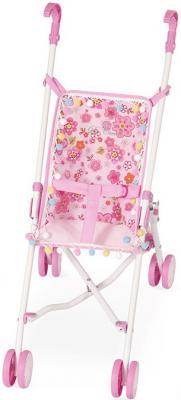 Коляска-трость для кукол DeCuevas розовые цветы 90097-3