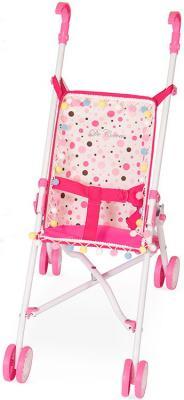 Коляска-трость для кукол DeCuevas в горошек 90097-4 коляска для кукол bambolina boutique с поворотными колесами в комплекте с куклой и набором аксессуаров
