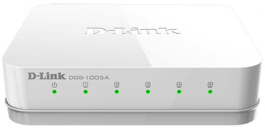 Коммутатор D-LINK DGS-1005A/D1A неуправляемый  портов //1000Mbps