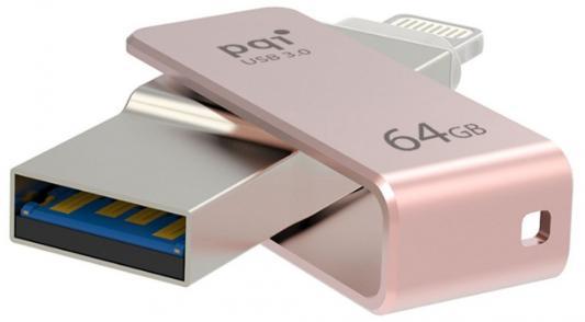 Флешка USB 64Gb PQI iConnect mini 6I04-064GR3003 розовый