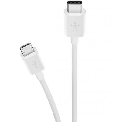 Кабель USB-C - Micro USB Belkin белый 1.8м F2CU033bt06-WHT кабель red line classic micro usb 2м белый