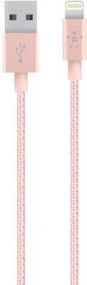 Кабель Lightning 1.2м Belkin Mixit круглый розовое золото F8J144bt04-C00 mixit premium