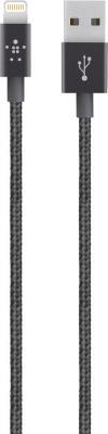 Кабель Lightning 1.2м Belkin Mixit круглый черный F8J144bt04-BLK кабель lightning 1 2м belkin mixit круглый черный f8j144bt04 blk