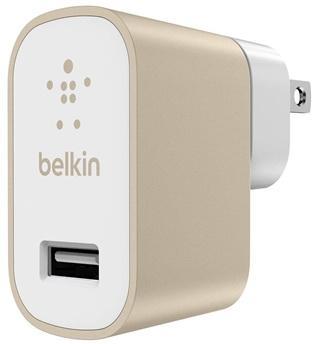 Сетевое зарядное устройство Belkin F8M731vfGLD USB 2.4А золотой сетевое зарядное устройство belkin 1xusb light gray
