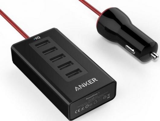 Автомобильное зарядное устройство ANKER A2311H12 USB 2.4А черный