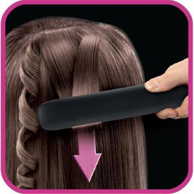 Выпрямитель для волос Rowenta SF1512F0 чёрный от 123.ru