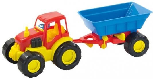 Трактор ZEBRATOYS Active с прицепом 15-5229 разноцветный в ассортименте