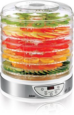 Сушилка для овощей и фруктов BBK BDH205D серебристый белый сушилка для овощей и фруктов bbk bdh205d белый металлик