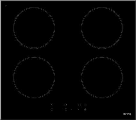 Варочная панель электрическая Korting HI 6404 B черный