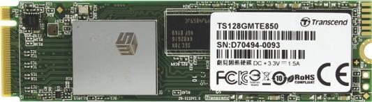 Твердотельный накопитель SSD M.2 128Gb Transcend MTE850 Read 2500Mb/s Write 1100mb/s PCI-E TS128GMTE