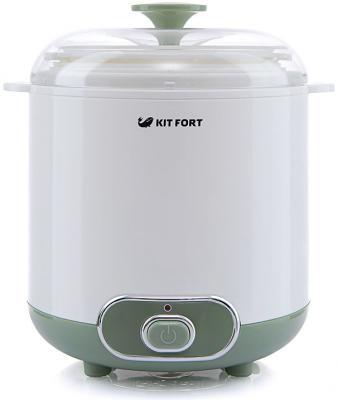 Йогуртница KITFORT КТ-2005 белый зелёный