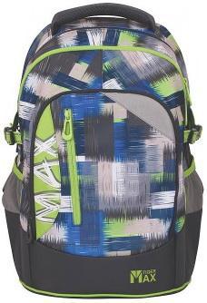 Школьный рюкзак с анатомической спинкой Tiger Enterprise MAX LIME GRUNGE 22 л серый 1750/A/TG школьные рюкзаки thorka школьный рюкзак mc neill любимый