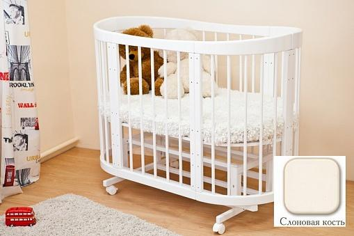 Кроватка-диван Красная Звезда Паулина-2 С422 (слоновая кость) детская кроватка можга красная звезда юлиана с757 слоновая кость