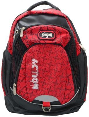 Городской рюкзак Action! AB11120 черный красный