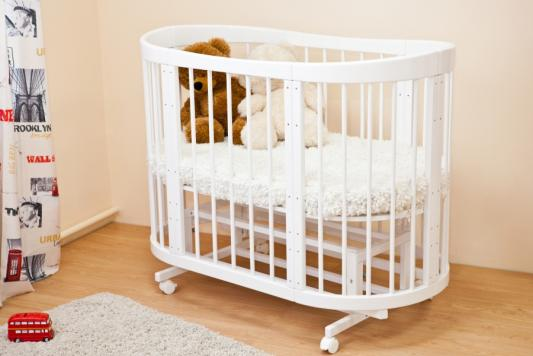 Купить Кроватка-диван Красная Звезда Паулина-2 С422 (белый), Красная звезда, береза, Кроватки без укачивания