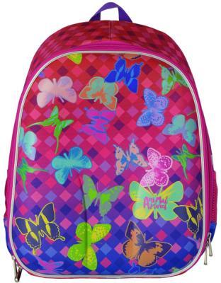 Купить Рюкзак с анатомической спинкой Action! Animal Planet Бабочки 17 л розовый разноцветный AP-ASB4614/1/17, розовый, разноцветный, Ранцы, рюкзаки и сумки