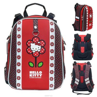 Рюкзак с анатомической спинкой Action! HELLO KITTY красный ASB4614/1