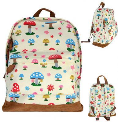 Рюкзак Action! с принтом Грибы AB2010/1 разноцветный рюкзак action мягкий 37х29х15см черный